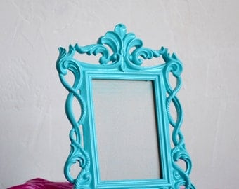 Ornate Turquoise Baroque 4 x 6 Frame