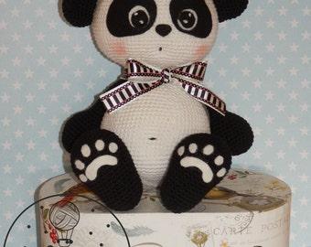 Panda crochet toy