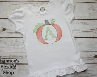 Vintage Monogrammed Pumpkin Shirt