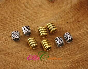 6 MM hole beard beads/dreadlock jewelry/dreadlock accessories/viking beard beads/sisterlock jewelry/viking jewelry