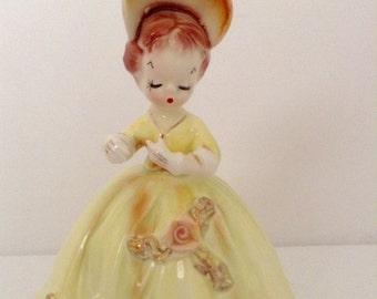 Vintage Original Arnart Cherchez La Femme Lady Figurine