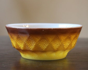 Vintage FireKing Bowl Kimberly Diamond Pineapple