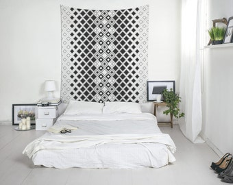Black And White Tapestry, Geometric Wall Art, Modern Tapestry, Boho  Tapestries, Large