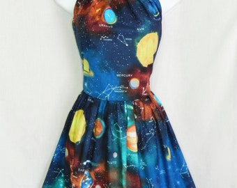 Outer space planet dress.