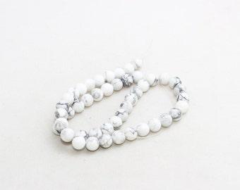 8mm Round Beads, Full Strand , natural stone beads, Round Jade Beads, Jade , Semi Precious , White Round Jasper, LAL19