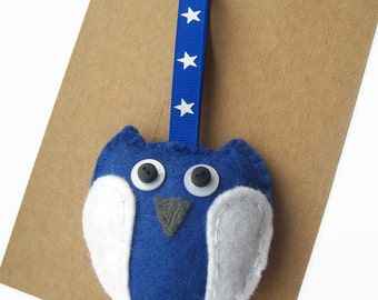 Felt Owl Ornaments, Baby Owl Decor, Owl Gifts, Owl Decorations, Hanging Ornaments