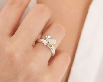 Gift for daughter | Personalised Flower Ring