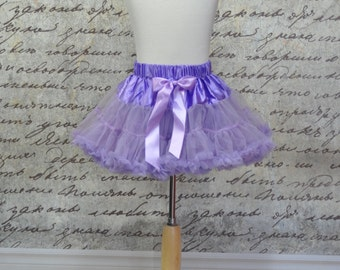 Baby Girls Ruffles Tutu Pettiskirt in Lavender. Ready to Ship.