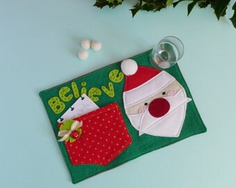 Christmas Eve Crate Filler - Christmas Eve Box Idea - Santa Mug Rug - Father Christmas or Santa Plate Alternative - Christmas Eve Ideas