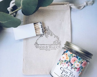 CHAI TEA LATTE Wood Wick Soy Candle | 9 Ounces