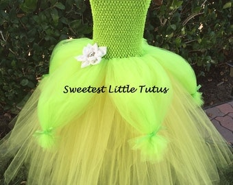 Frog Princess Tutu Dress/ Princess Tiana Tutu Dress/ Tiana Costume/ Frog Princess Costume/ Tiana Birthday Dress