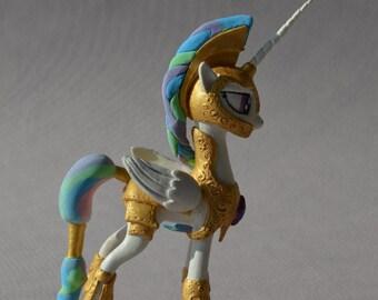 Princess Celestia in armor