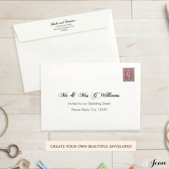 printable wedding 5x3 5 envelope template rsvp envelope