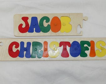 Personalized Name Puzzle with Pegs First and Last Name
