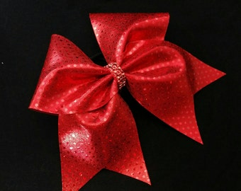 Red cheer bow, cheer bow, sequin cheer bow, cheerleading bow, cheerleader bow, cheer bows, softball bow, cheerbow, dance bow, hair bow, bow