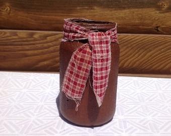 Grubby Jar, Primitive Decor, Home Decor