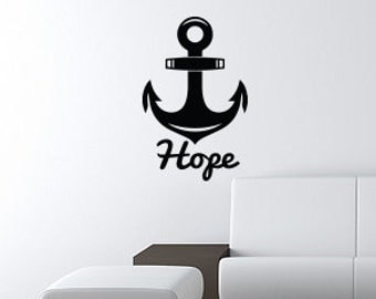 """ANCHOR Hope Wall Art Decal 13""""x20"""" Free Shipping"""