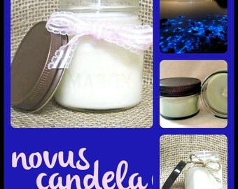 Mason Jar Candle - Soy Candle - Soy Scented Candle - Majestic Seas Candle - Handmade Candle - Housewarming Gift - Hostess gift - 4 or 8 oz