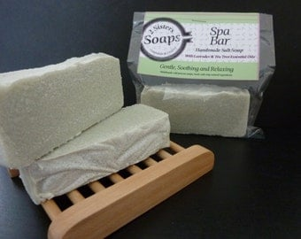 Teatree & Lavender Handmade Salt Soap with Avocado and Olive Oil
