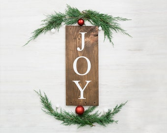 Joy Christmas Sign- Rustic Christmas Decor- Reclaimed Wood Decorations - Christmas Decor - Woodland Christmas - Christmas House Decorations