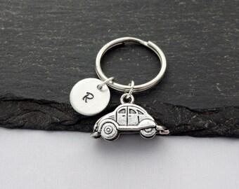 Car Keyring, Initial Car Keyring, Hand Stamped Keyring, Travel Keyring, Charm, Car Keychain, Personalised Keyring, Car Gifts, Travel Gifts