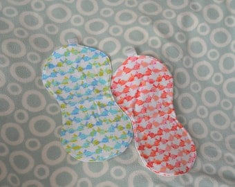 Bunnies Baby Burp Cloths, Boy / Girl Twin Baby Gift Set, Baby Burp Cloths, Twins Baby Shower Gift, Bunnies Burp Cloth, New Baby Gift