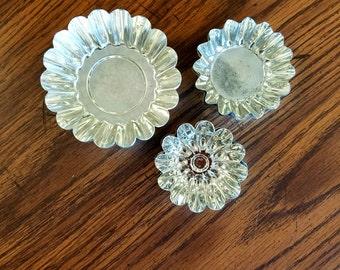 Vintage Fluted Tin Tart Mold Collection Sweden