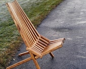 Patio Chair, Outdoor Furniture, Patio Furniture, Medium Walnut Finish, Adirondack Chair, Accent Chair, Kentucky Stick Chair, Camping Chair