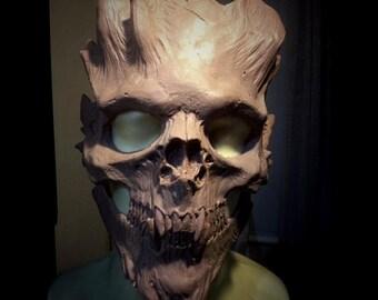 Pre-Order Bone Warrior Skull Mask/Demon Skull/ Horror Halloween, Costume, Mask Paint your own, or finished.