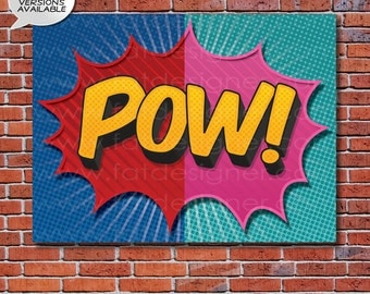 POW! - A Boy or Girl Superhero Art Print