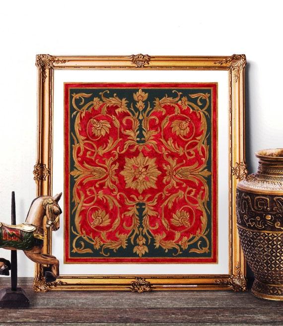 Https Www Etsy Com Listing 254810923 Mosque Tile Design Home Decor