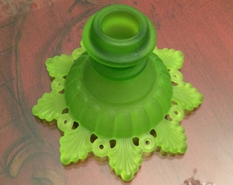 Westmoreland Ring and Petal Green Satin Mist Candlestick Pattern # 1975