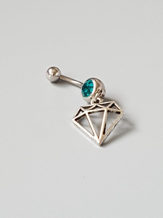 charm belly button ring emerald gemstone navel