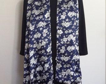 Blue scarf, blue shawl, royal blue scarf, formal shawl, silk shawl, fringed shawl, xl shaw, long shawl