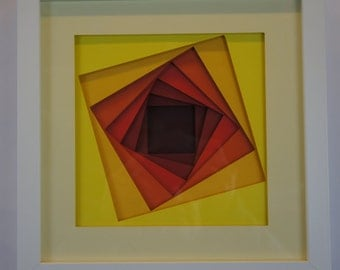 Squares - Shadow shape cut
