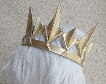 Gold crown Ravenna Inspired Adult queen crown 3d printed