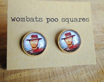 Mr. Eastwood Studs, The good, the bad and the ugly earrings