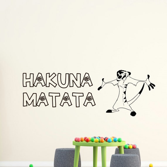 Wall Decals Quote Hakuna Matata Lion Vinyl Stickers Wall Art