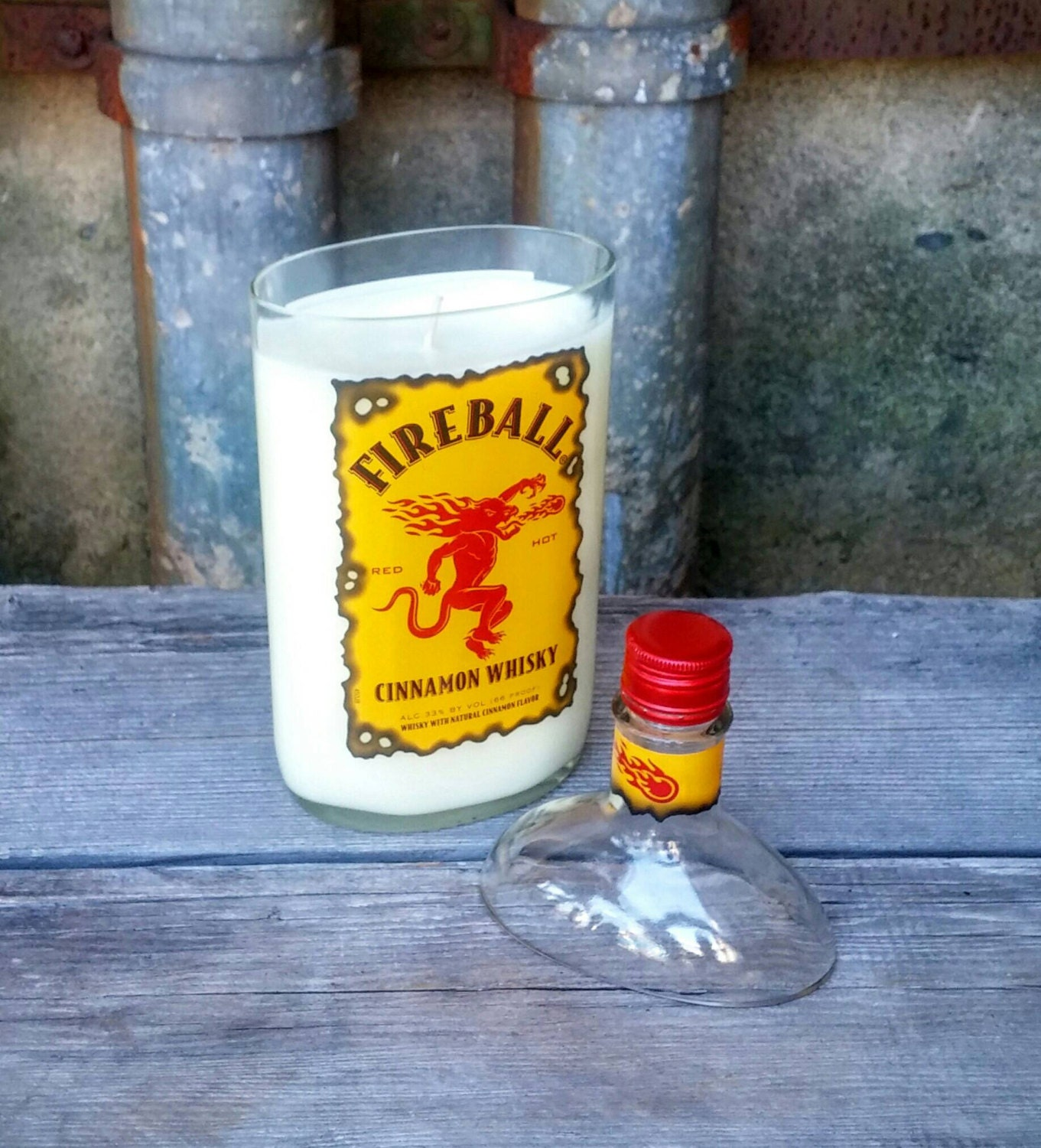 Fireball Cinnamon Whiskey Scented Candle Soy Wax By