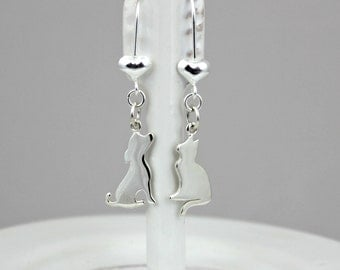 Luxe DOG and CAT LOVER Earrings in Sterling Silver