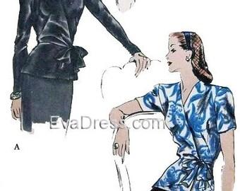1940 Dress Pattern Evadress By Evadress On Etsy