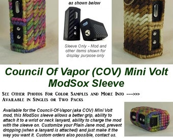 "Council of Vapor (COV) Mini Volt ""ModSox"" Sleeve wrap case holder holster pouch glove cover custom handmade"