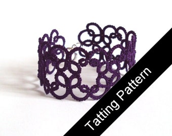Tatting Pattern PDF - Christina Bracelet - Beginner - Instant Download