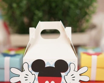 Mickey Mouse Favor Box Mickey Favors Mickey Mouse Goodie Bag Mickey Mouse Birthday Favor Mickey Party Favor Mickey Goodie Bag