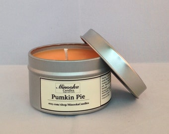 6oz Pumpkin Pie Scented Soy Candle
