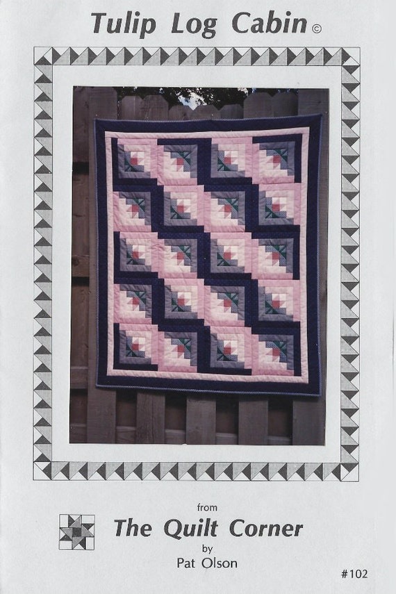 Log Cabin Quilt Pattern Free Queen Size : Tulip Log Cabin quilt pattern in crib lap twin and