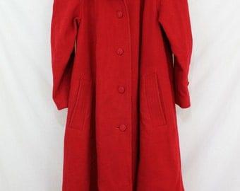 Red coat - Vintage | Etsy UK