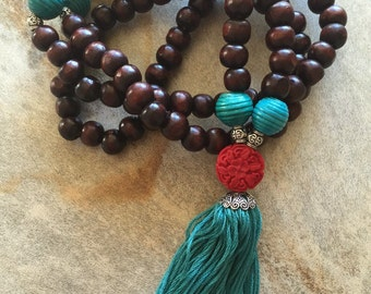 Beautiful mala bead necklace
