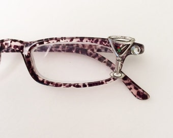 Reading Glasses +3.50 Martini Glasses, Fun, Funky Eyewear