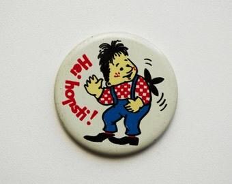 Vintage (4 cm) 1.57'' book character Karlsson cartoon brooch badge token clasp pinion pin button cordon band medallion pin